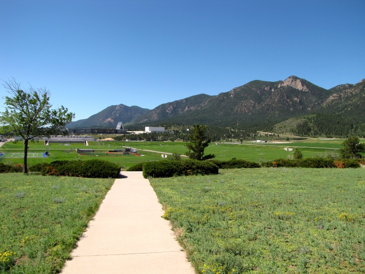 Walkway to the overlook of Airfare Academy Athletic Field, Colorado Springs, Co